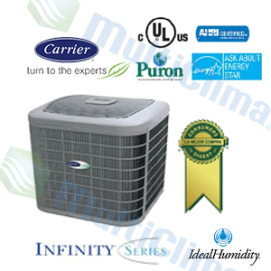 Condensador Descarga Vertical Carrier 24VNA INFINITY  SEER 19 R410 INVERTER